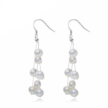 Charlette White Baroque Pearl Drop Earring