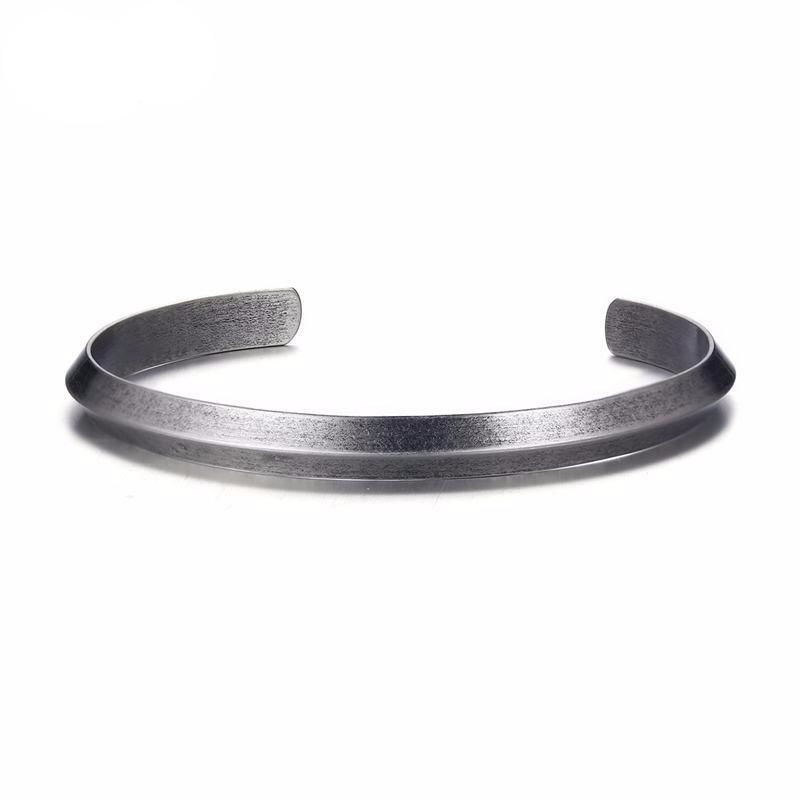 Simple Cuff Bracelet & Bangle for Women & Men