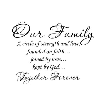 Our Family Together Forever Wall Stickers