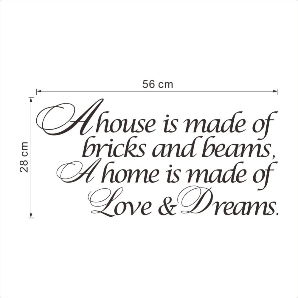 Home is Made of Love Wall Stickers