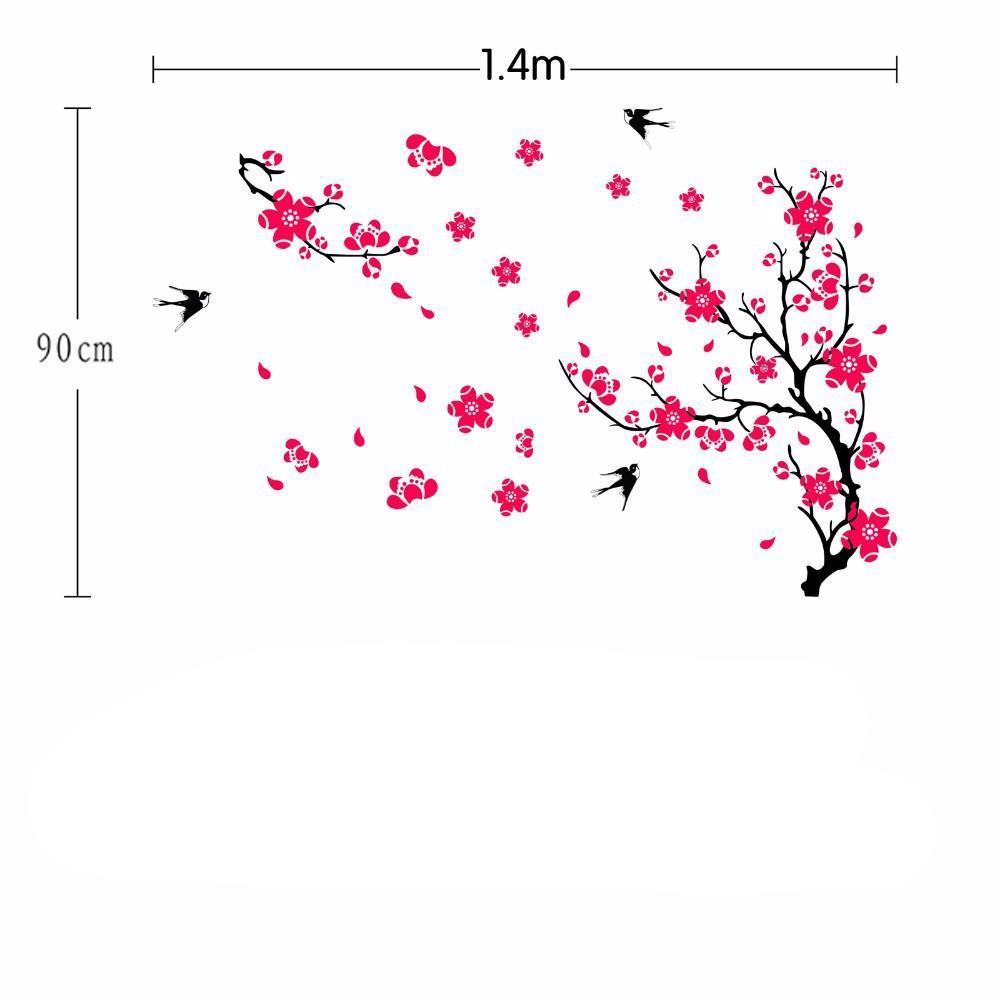 Large Swallow Plum Blossom Wall Sticker