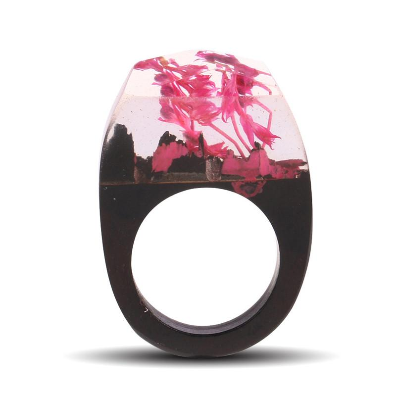 Spring Petals Secret Forest Resin Ring