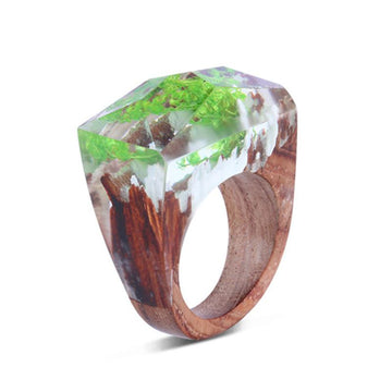 Spring Forrest Secret Forest Resin Ring