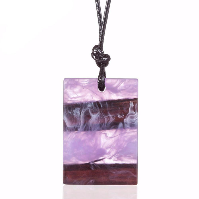 Smoke in the Forest Resin Necklace