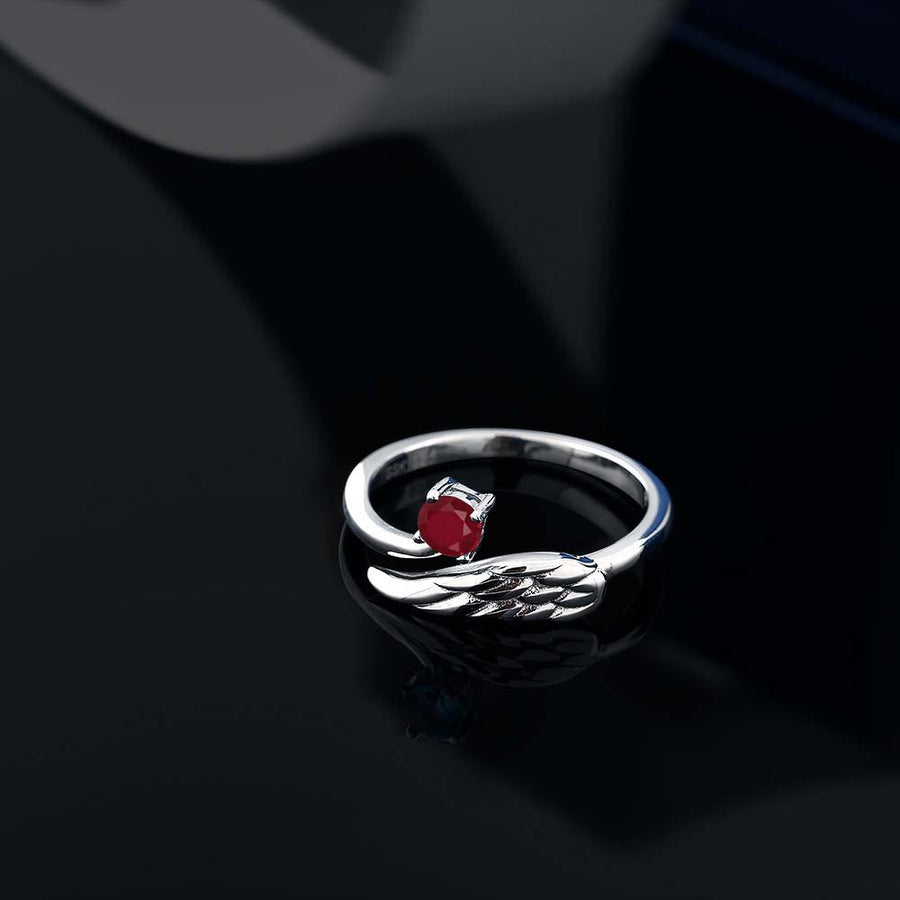 Aimee Round Ruby Ring
