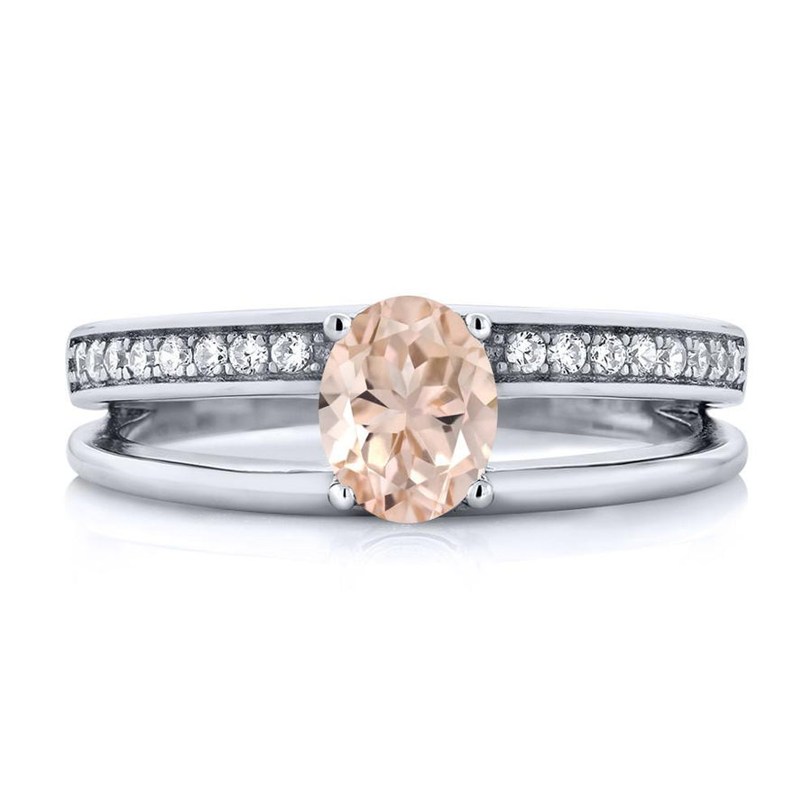 Varvara Round Morganite Ring
