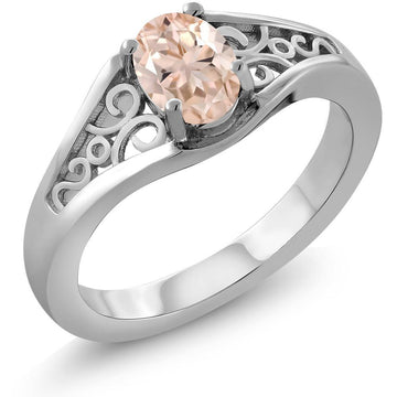 Anna Oval Morganite Ring