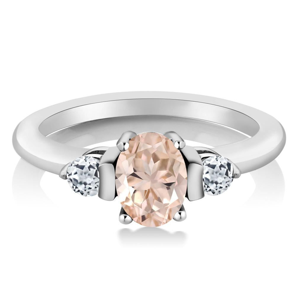 Alisa Oval Peach Morganite Ring
