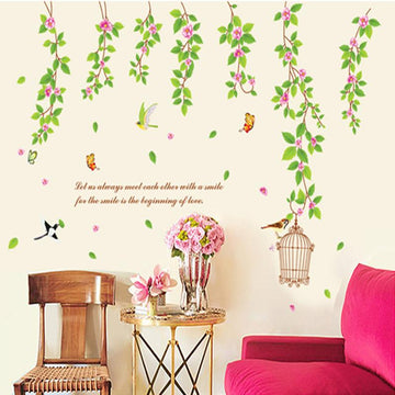 Vine Leaves Birdcage Wall Stickers