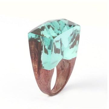 Frozen Waterfall Secret Forest Resin Ring