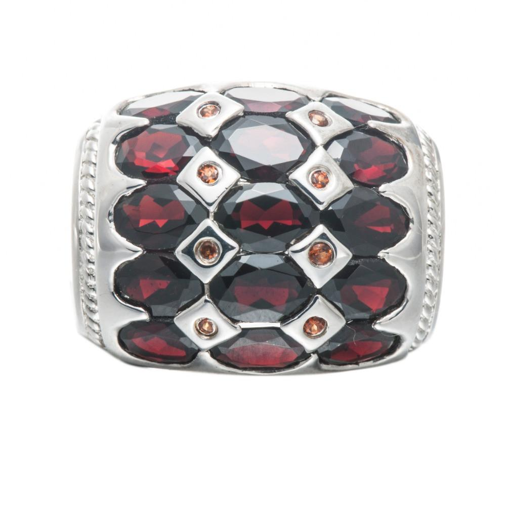 Izolda Oval Black Garnet Ring