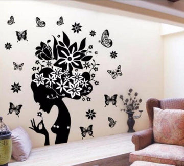 Flowers Fairy Mural Art Wall Stickers