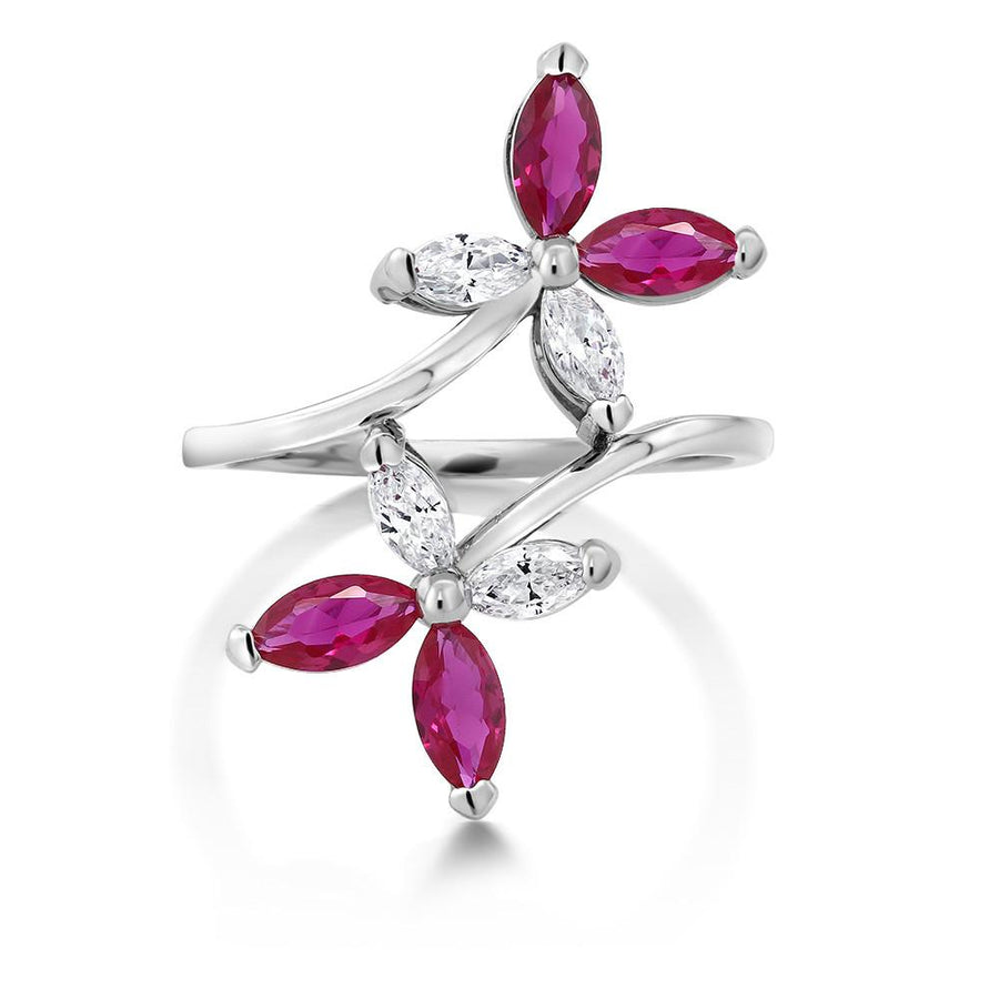 Adeline Marquise Ruby Ring