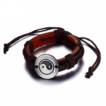 YingYang Classic Leather Bracelet