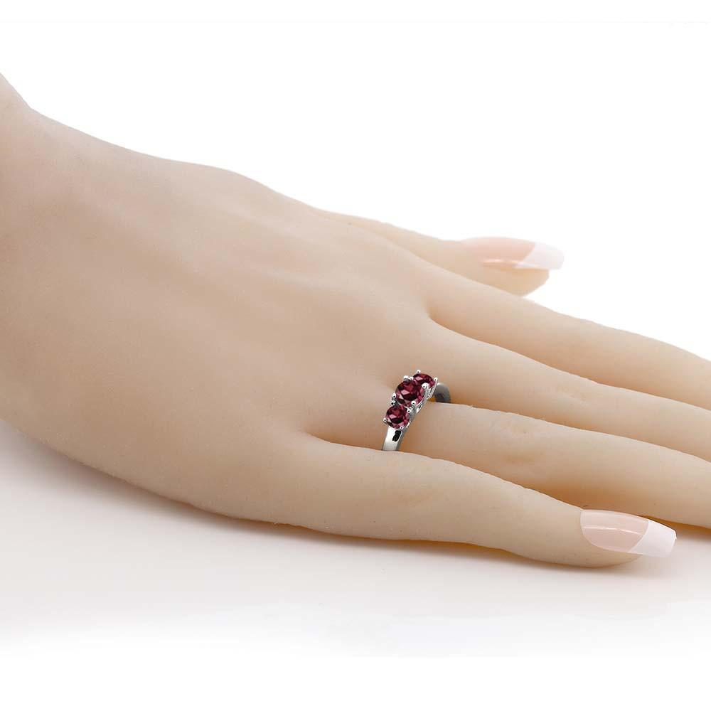 Antonie Red Rhodolite Round Garnet Ring
