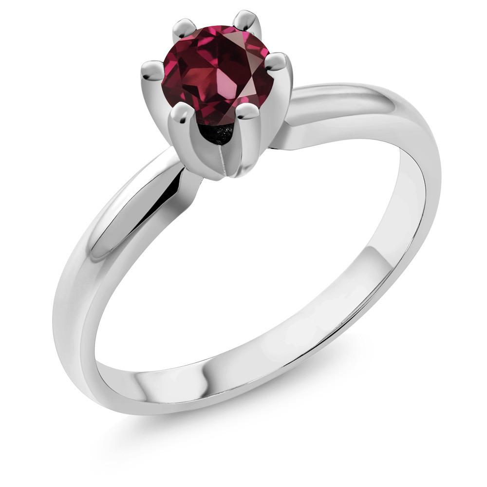 Antonín Red Round Garnet Ring
