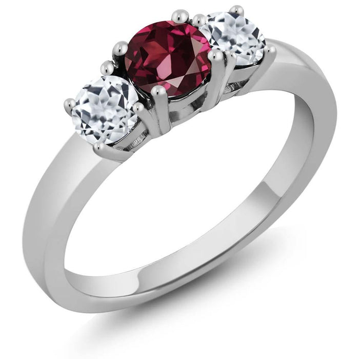 Andìl Red Round Garnet & Topaz Ring