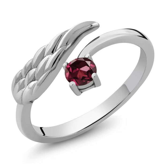 Alžbìta Red Round Garnet Ring