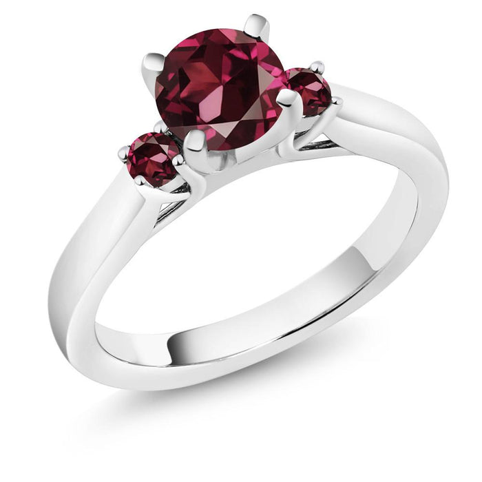 Aigneis Red Round Garnet Ring