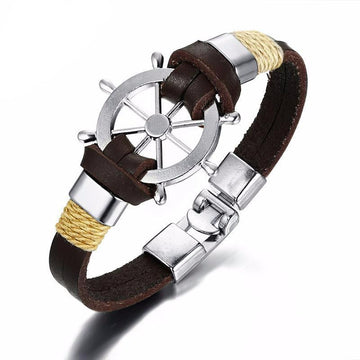Sea Shantee Leather Bracelet