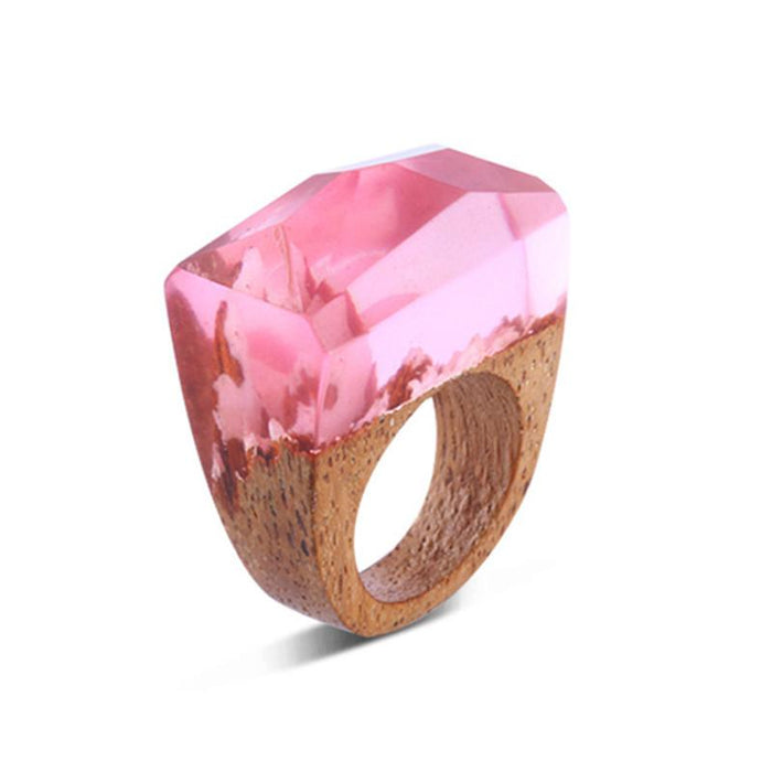 Spring Blossom Secret Forest Resin Ring