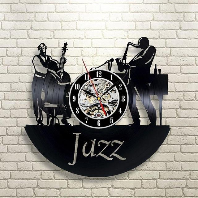 Antique Retro Jazz Record Wall Clock