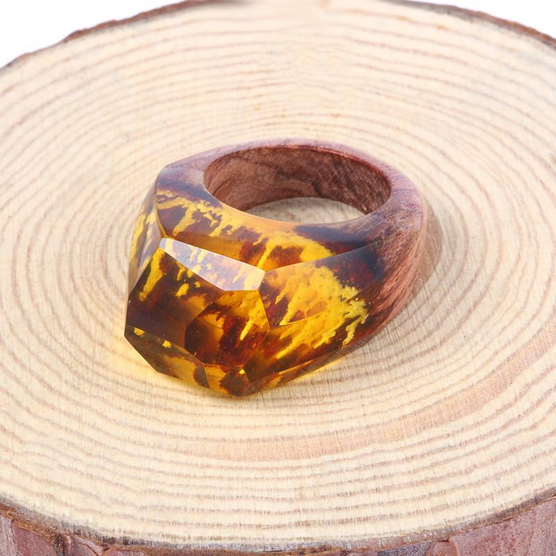 Crystal Sunlight Secret Forest Resin Ring