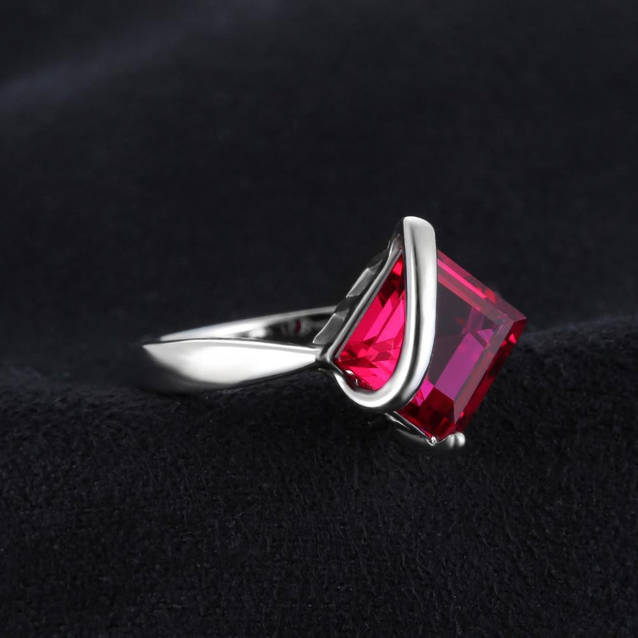 Adriane Square Ruby Ring
