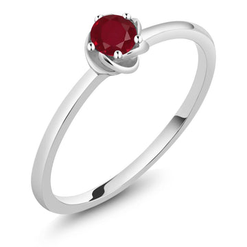 Aceline Round Ruby & White Gold Ring