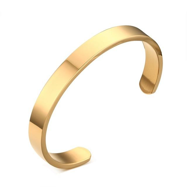 Gold Pulseiras Mens Bangle Bracelet