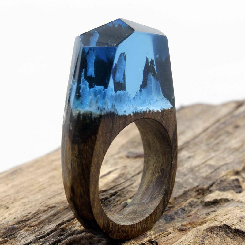Snow Forest Secret Forest Resin Ring