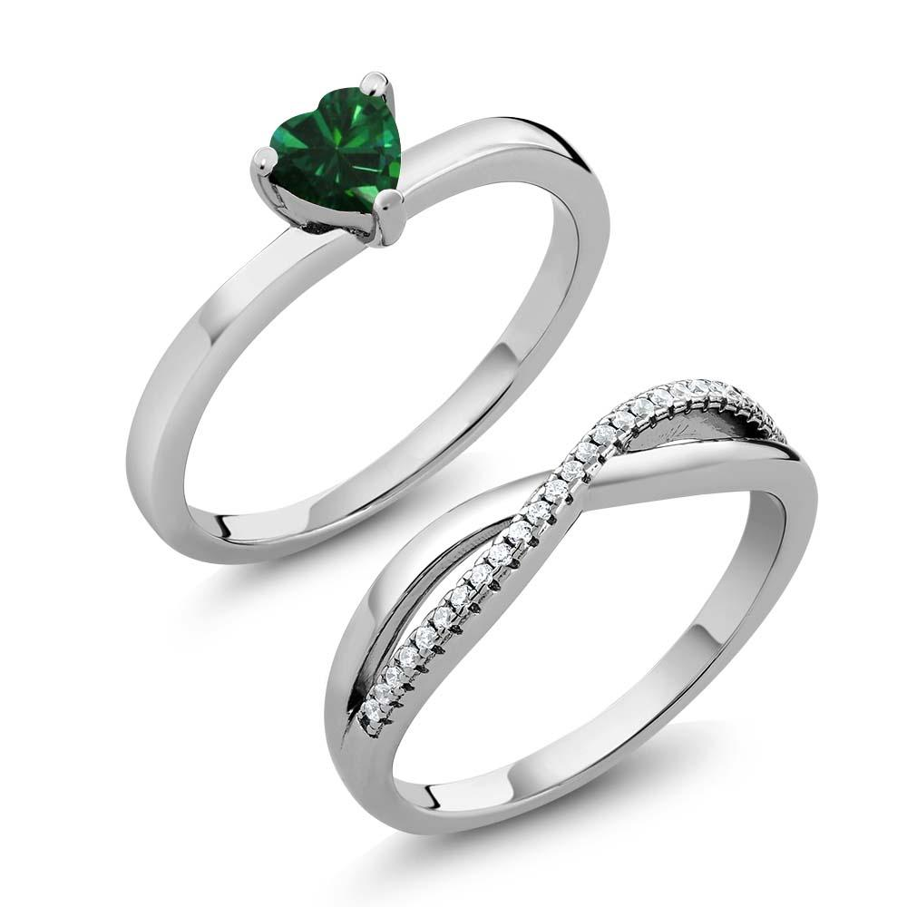 Amabella Heart Emerald Ring