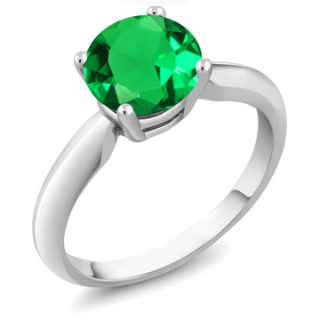 Alyssandra Round Emerald Ring