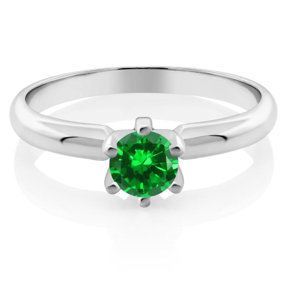 Aloin Round Emerald Ring