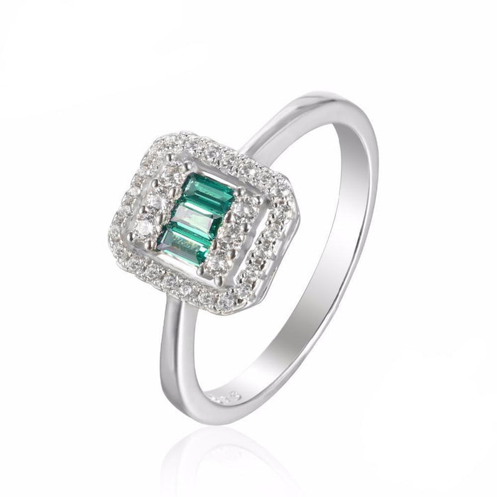 Alexis Square Emerald Ring