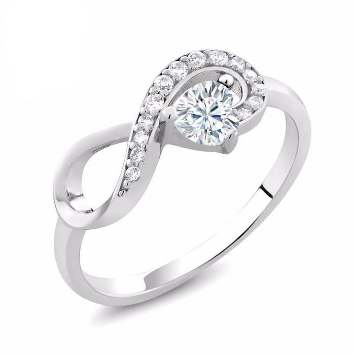 Charles & Colvard Original Infinity Heart Moissanite Ring