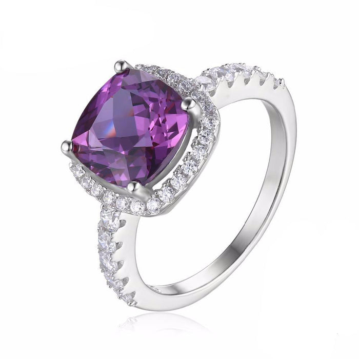 Blanch Cushion Alexandrite Ring
