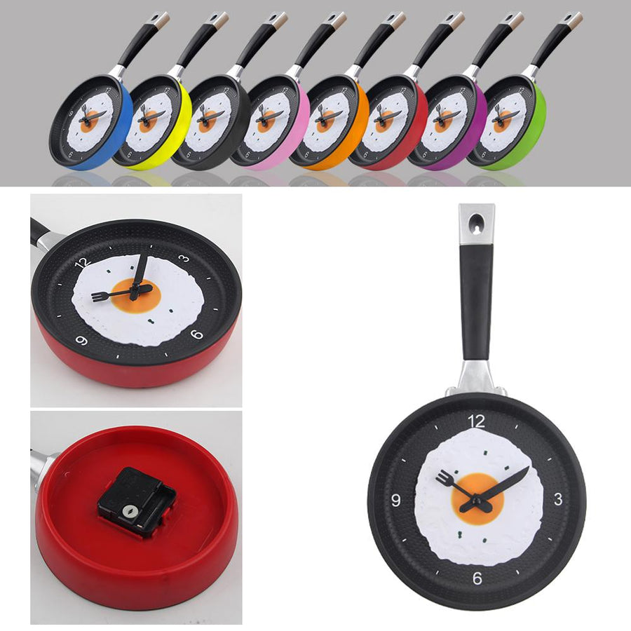 Fried Egg Pan Kitchen Wall Clock