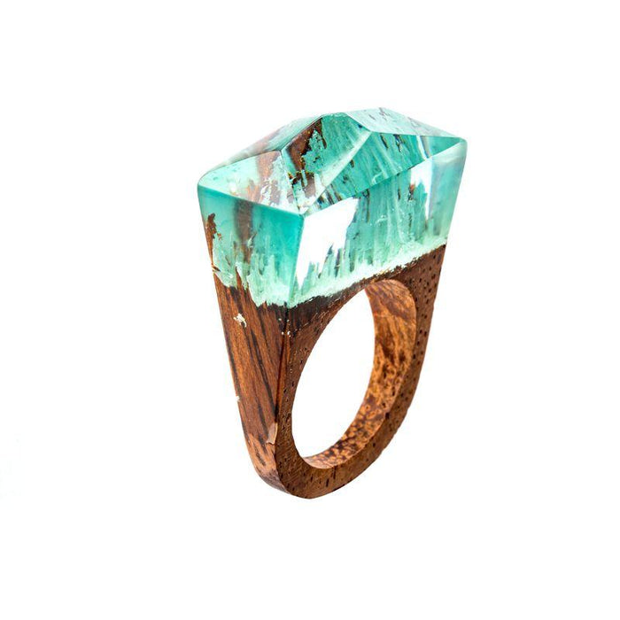 Ice Peaks Secret Forest Wood Ring