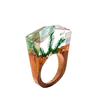 Underwater World Secret Forest Resin Ring