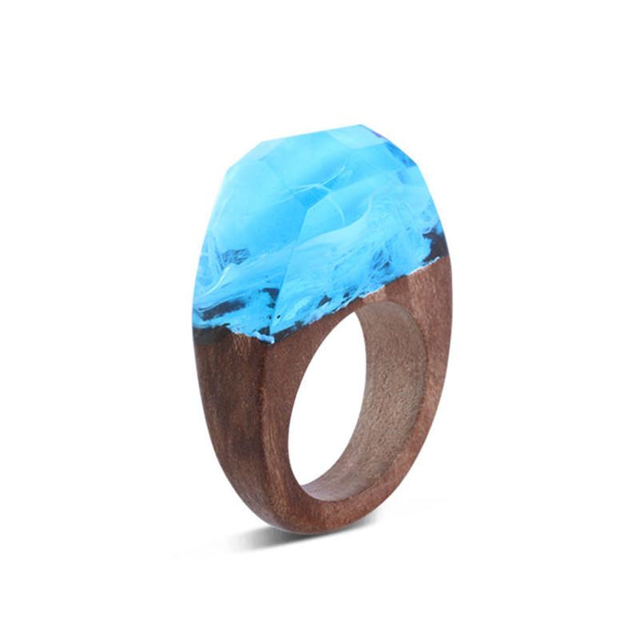 Winter Beach Secret Forest Resin Ring