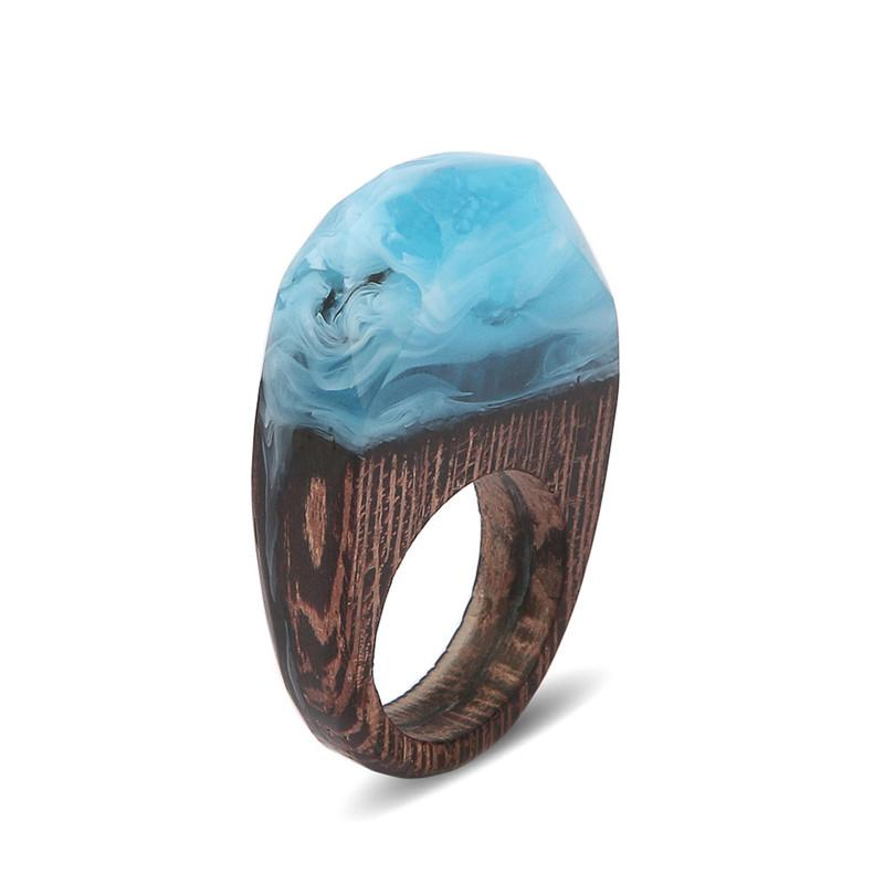 Winter Winds Secret Forest Resin Ring