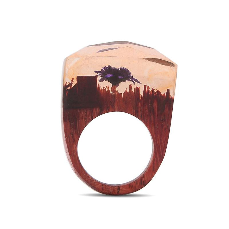Autumn Sunset Secret Forest Resin Ring