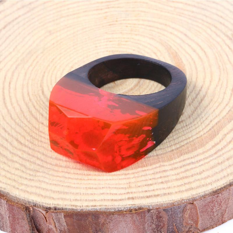 Summer Heat Secret Forest Wood Ring
