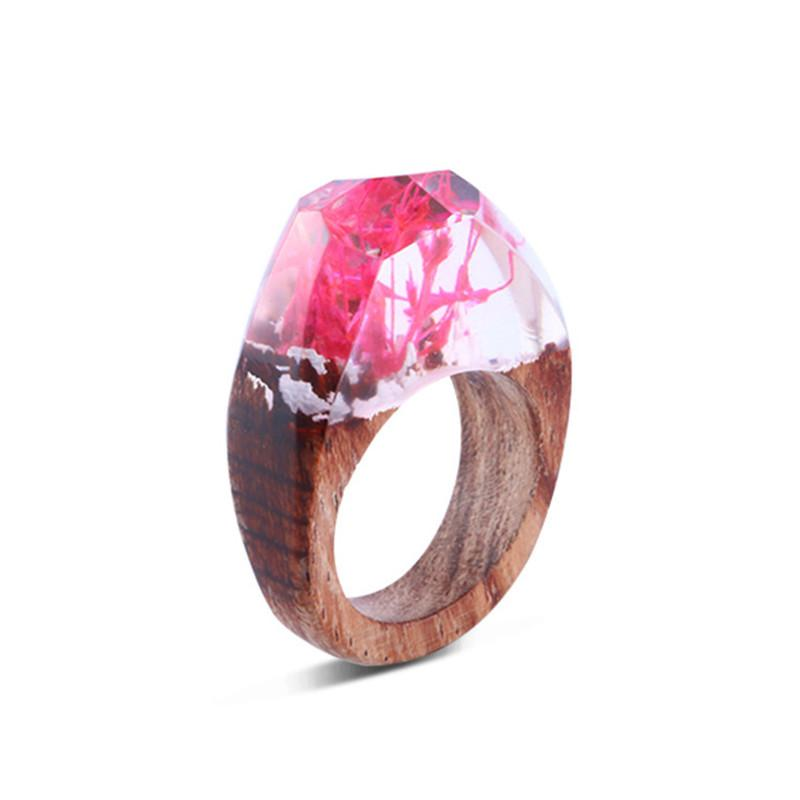 Pink Spring Secret Forest Resin Ring