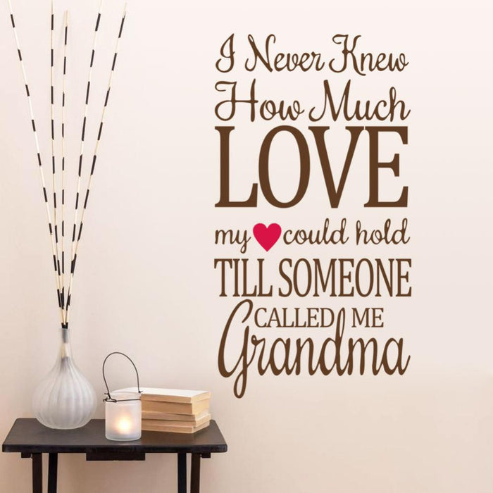 How Much Love Wall Sticker