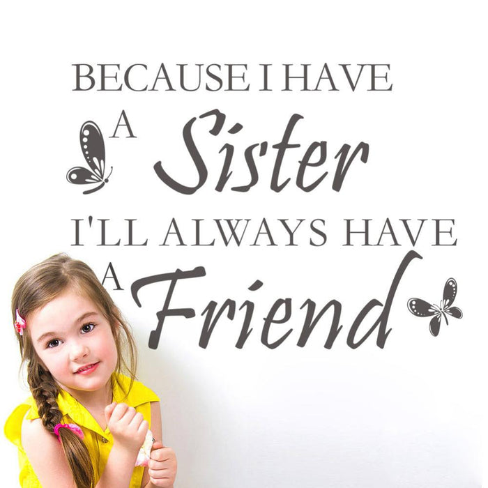 Sister Friend Quote Wall Sticker