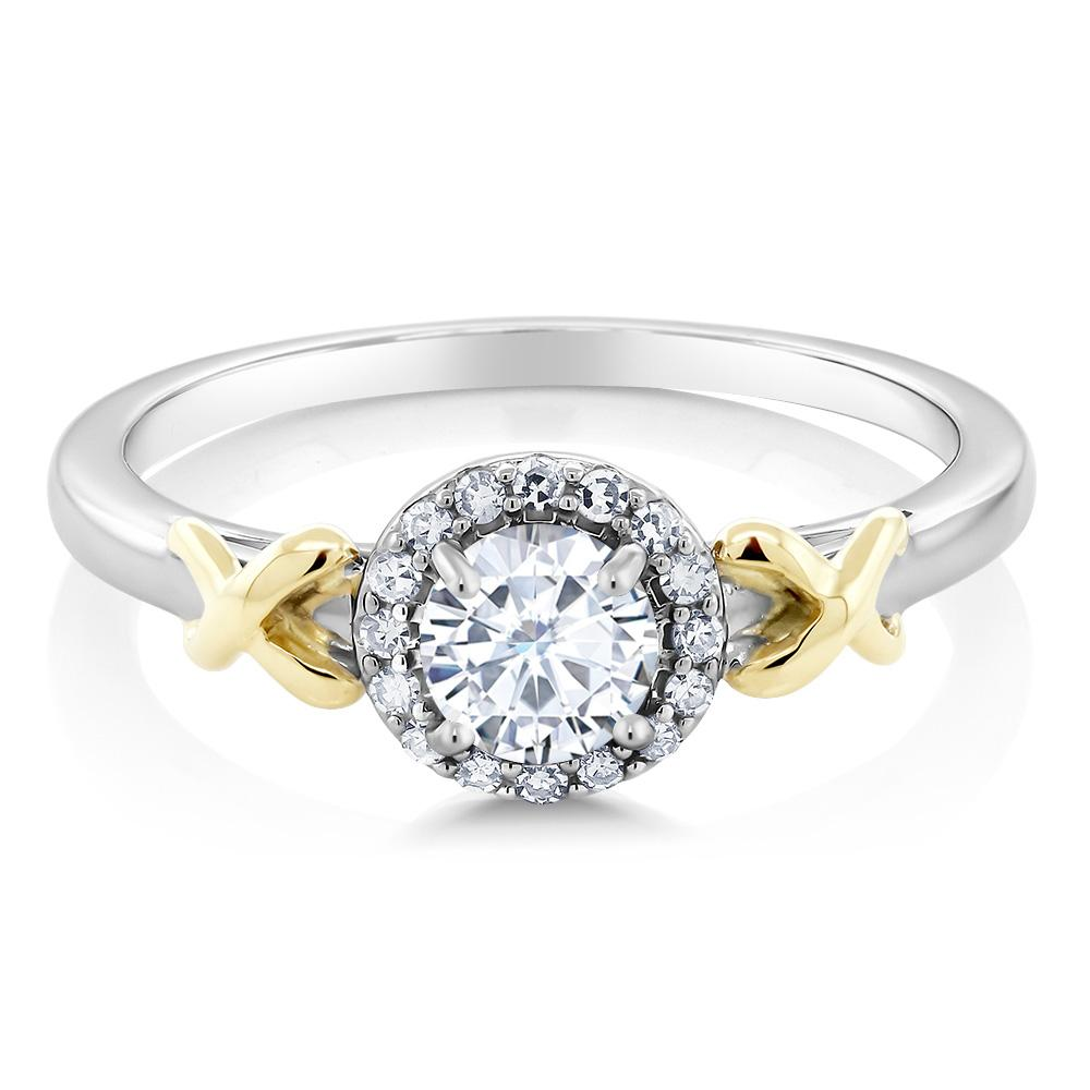 Accent Diamonds Created Moissanite Ring