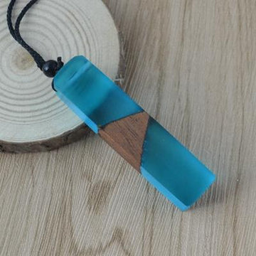 Summer Rain Wood Resin Necklace