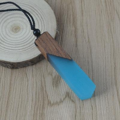 Summer Sky Wood Resin Necklace